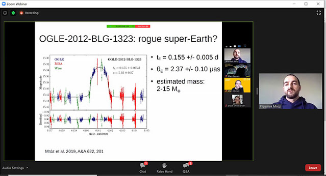 Detection of rogue super-Earth (Source: Przemek Mroz, Exoplanets Demographics 2020 meeting)