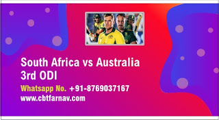 South Africa vs Australia 3rd ODI Today Match Prediction 100% Sure