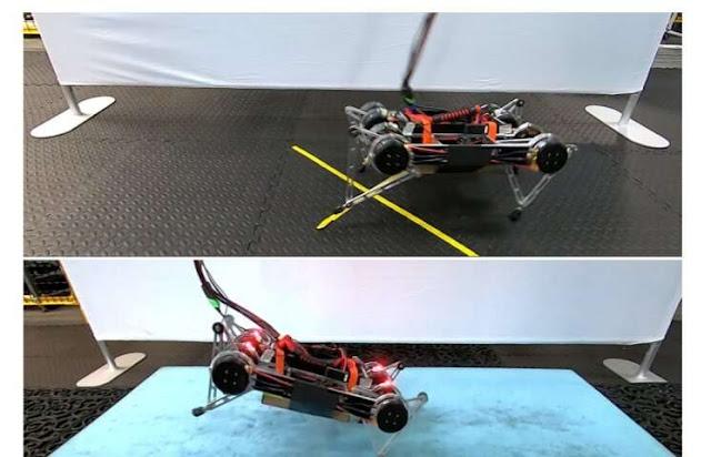Робот Google учится ходить в реальном мире
