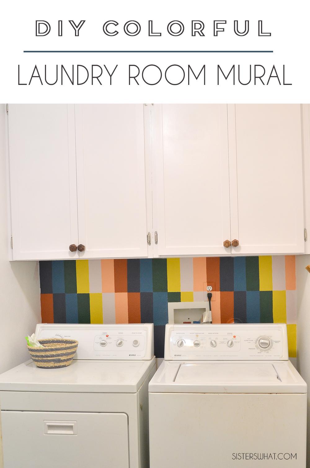 rainbow mural laundry room ideas