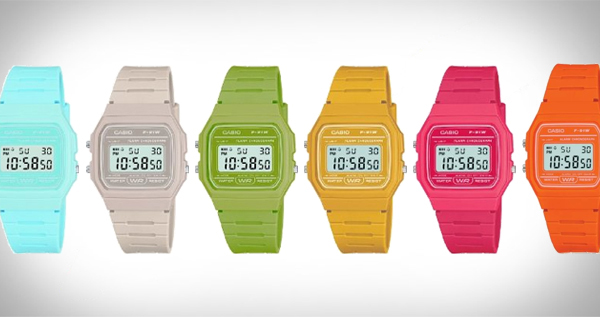 Casio F-91WC NEW COLOURS