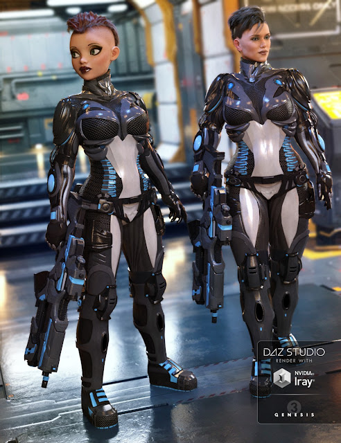 StarSlayer Outfit for Genesis 3 Female