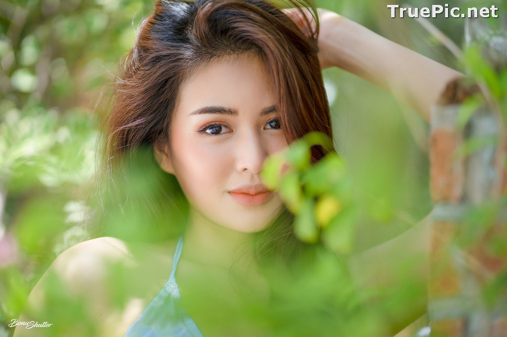 Image Thailand Model - Poompui Tarawongsatit - Summer Blue Bikini Set - TruePic.net - Picture-3