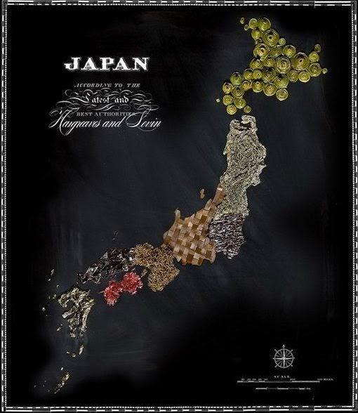 Япония съедобная карта