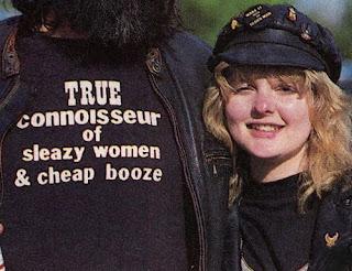 True Connoisseur of Sleazy Women & Cheap Booze retro t-shirt.  PYGear.com