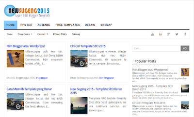 New Sugeng 2015 - Best SEO Killer Blogger Template