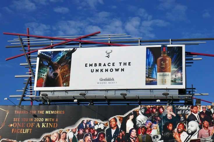 Glenfiddich Embrace the unknown billboard
