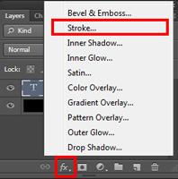 cara membuat stroke pada tulisan dengan photoshop