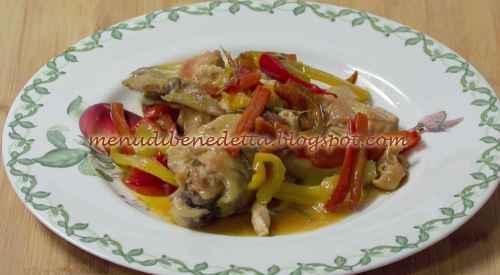 Pollo con peperoni ricetta Benedetta Rossi