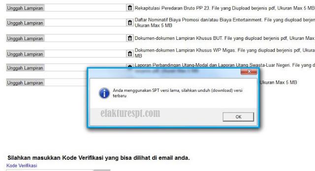 eForm Gagal Submit Error Anda Menggunakan Versi Lama, Silahkan Download Versi Baru