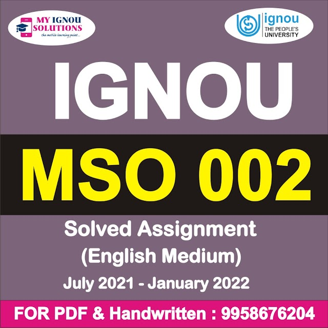MSO 002 Solved Assignment 2021-22