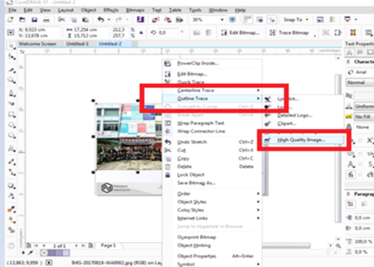 Design Grafis menggunakan CorelDraw X7: Langkah-langkah ...