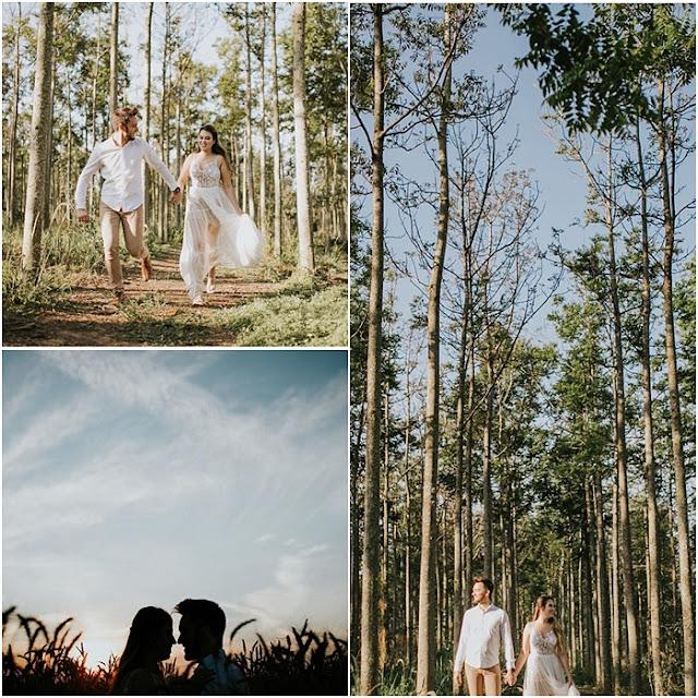 Pré-wedding no campo em Holambra da influencer Fabi Santina