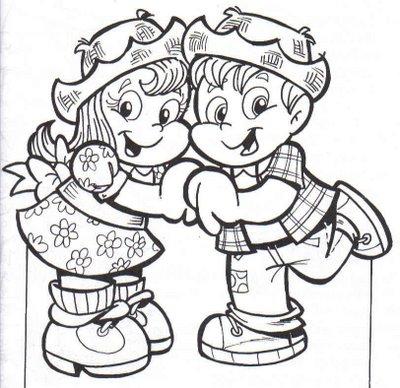 Desenho Casal Se Beijando