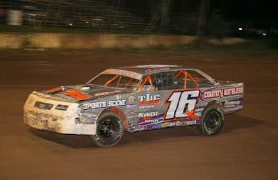 Derek Kraus in 2018 at the Tomahawk Speedway,