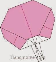 Bước 10: Hoàn thành cách xếp cái quạt bằng giấy theo phong cách origami.