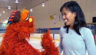 Murray skates at ice skating school. Sesame Street Episode 4421, The Pogo Games, Season 44.
