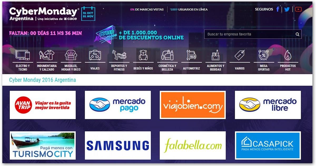 Promociones en la costa descuentos y promos cybermonday Cyber monday 2016 argentina muebles