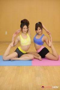 Aika Hoshino and Miria Aiba are doing a great workout
