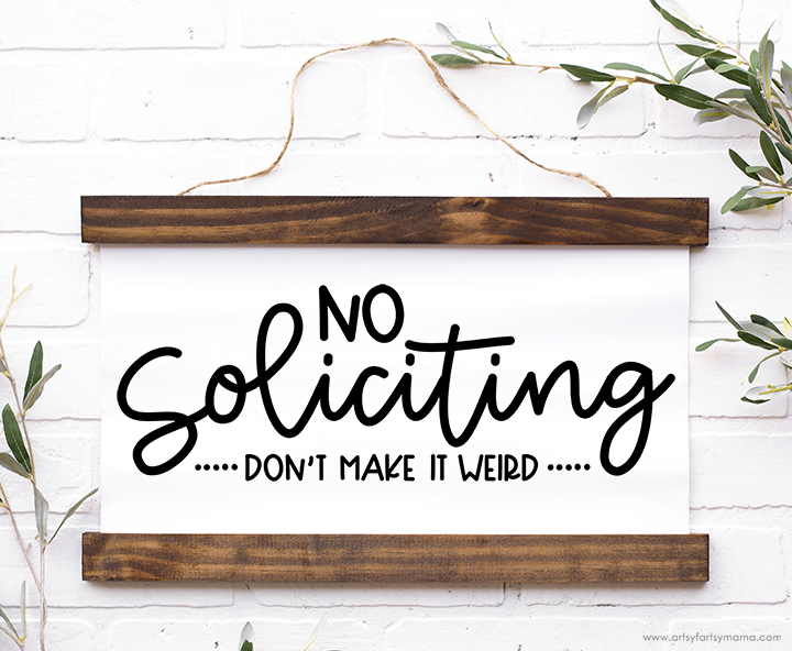 Free No Soliciting Cut File