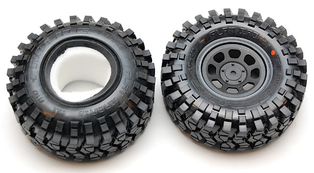 Tamiya High Lift proline flat iron tires and hpi stock car wheels