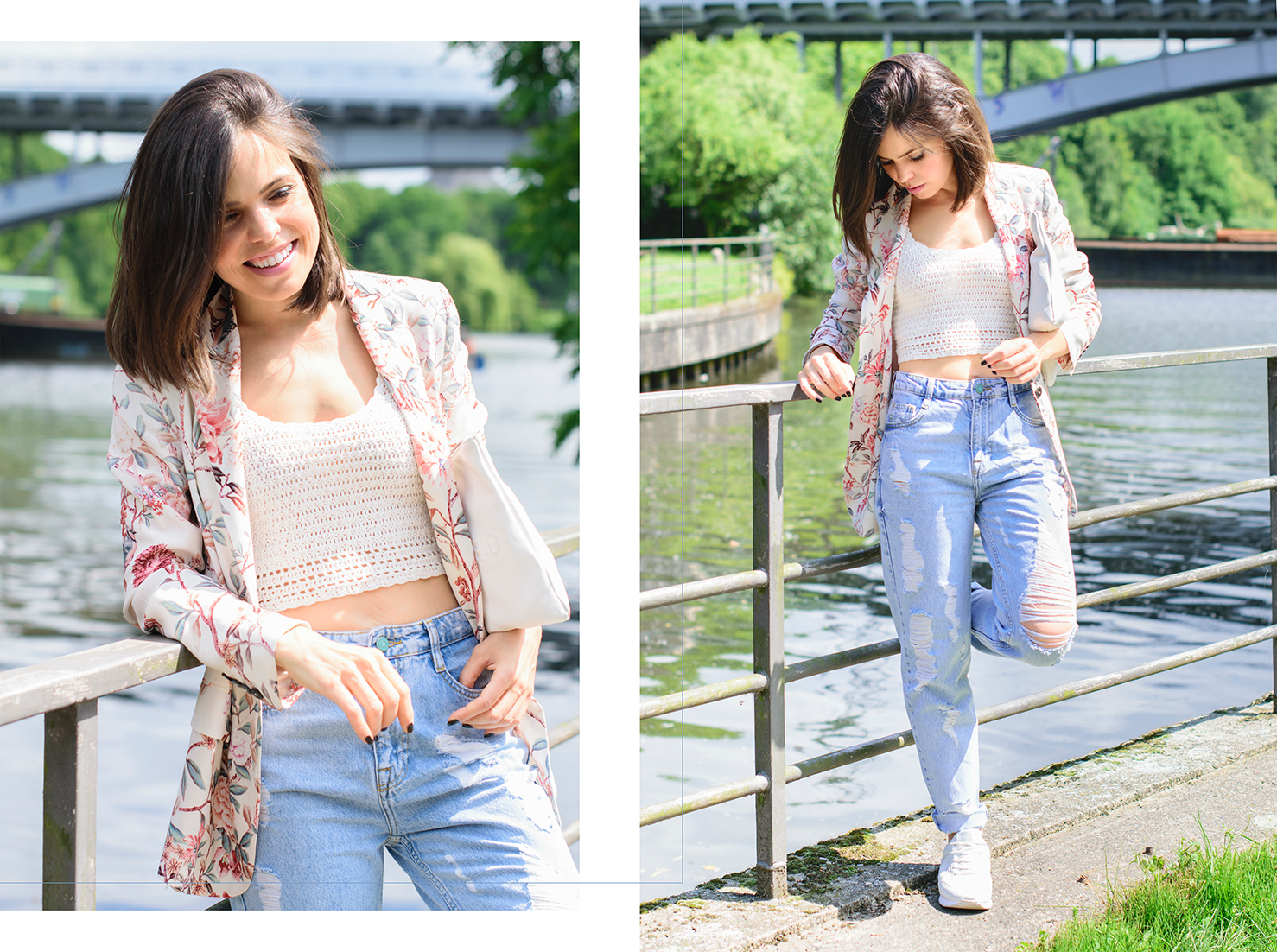 look con mom jeans y sneakers