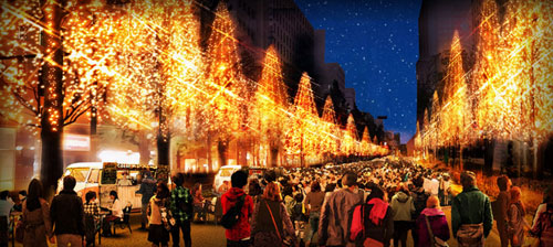 Festival of Lights in Osaka 2015, Japan.