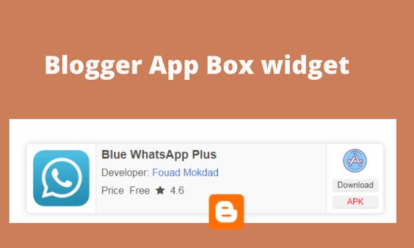 Blogger stylish App Box Widget/plugin