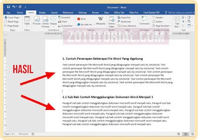 4 Langkah Menggabungkan Beberapa File Word Menjadi Satu File docx