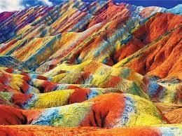 Rainbow Mountain World Wonder Zhangye Danxia National Geological Park
