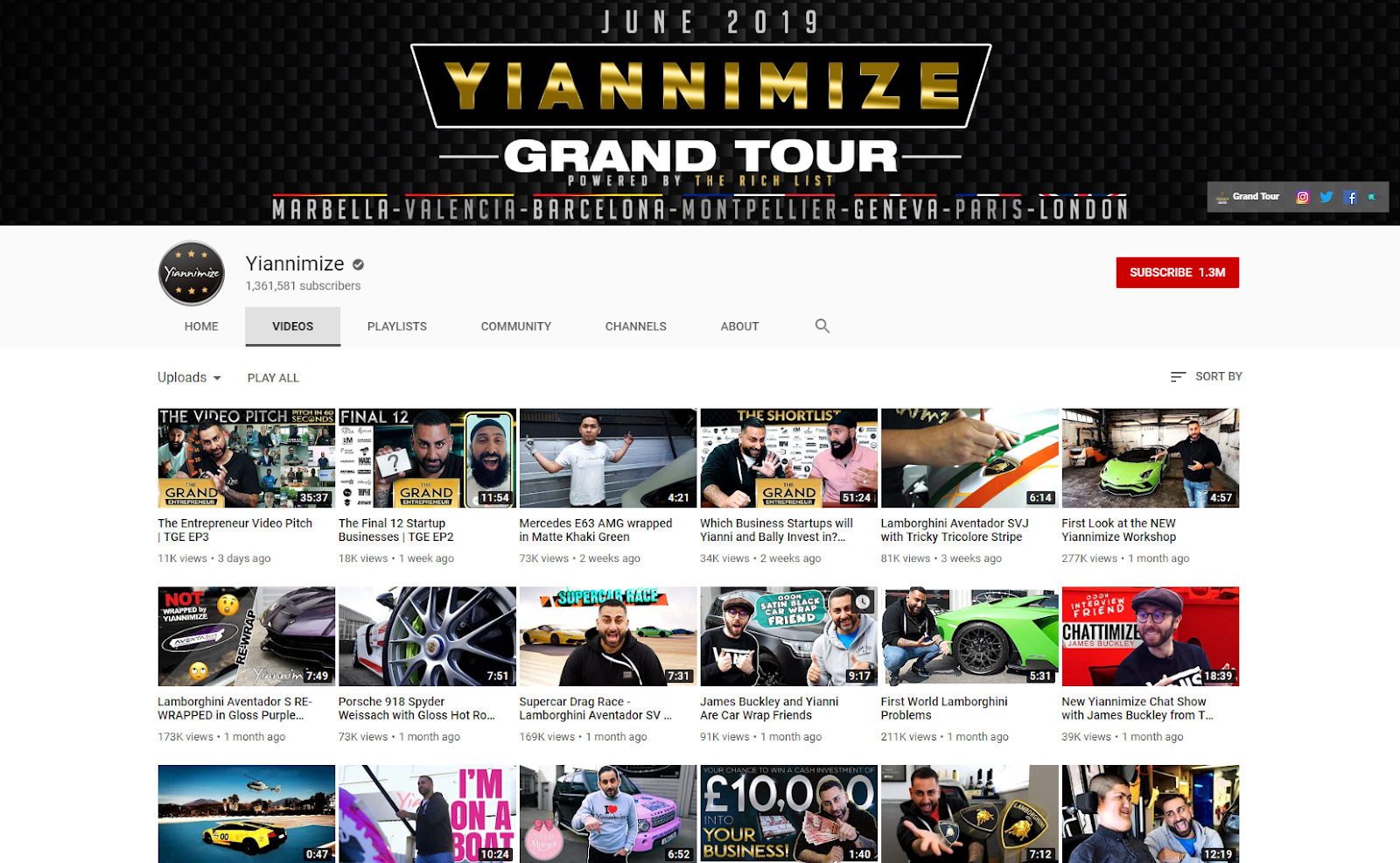 Yiannimize YouTube .com