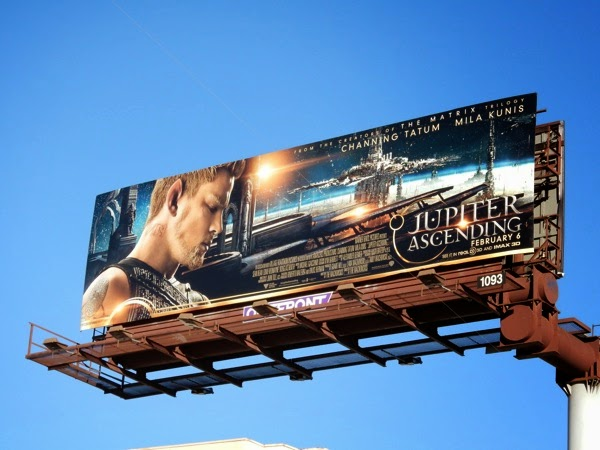 Channing Tatum Jupiter Ascending movie billboard