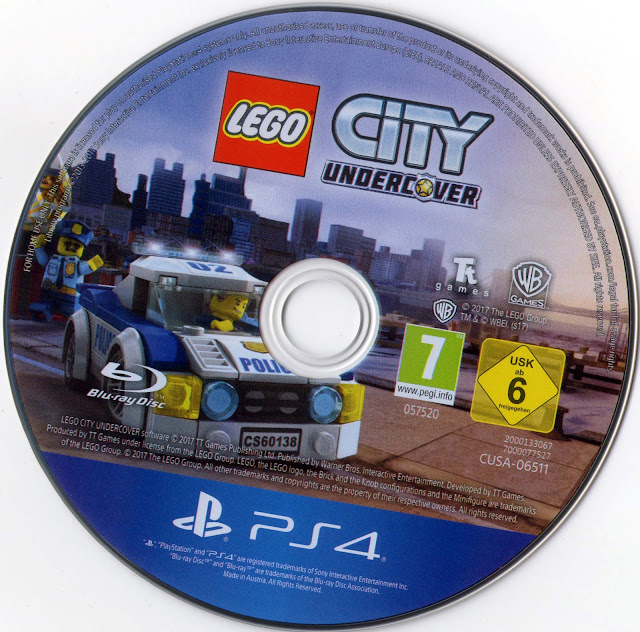 LEGO City Undercover PS4 Label