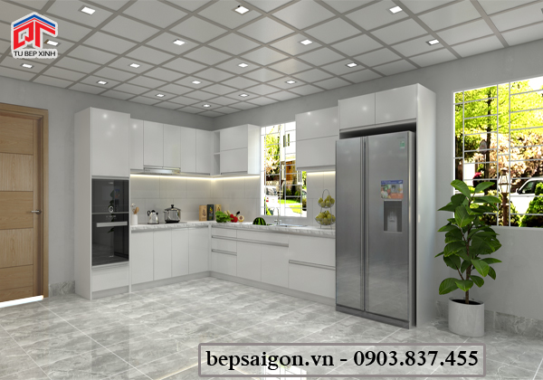 tủ bếp, tủ bếp đẹp, nội thất tủ bếp, tủ bếp acrylic