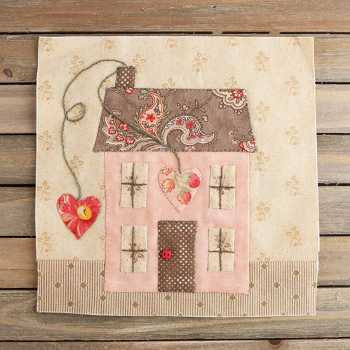 Full House Block designed by Anne Sutton of Bunny Hill Designs for Fat Quarter Shop