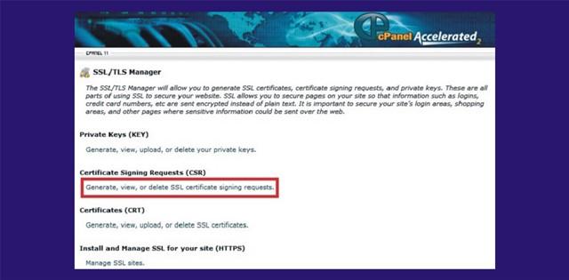 SSL installation for cPanel