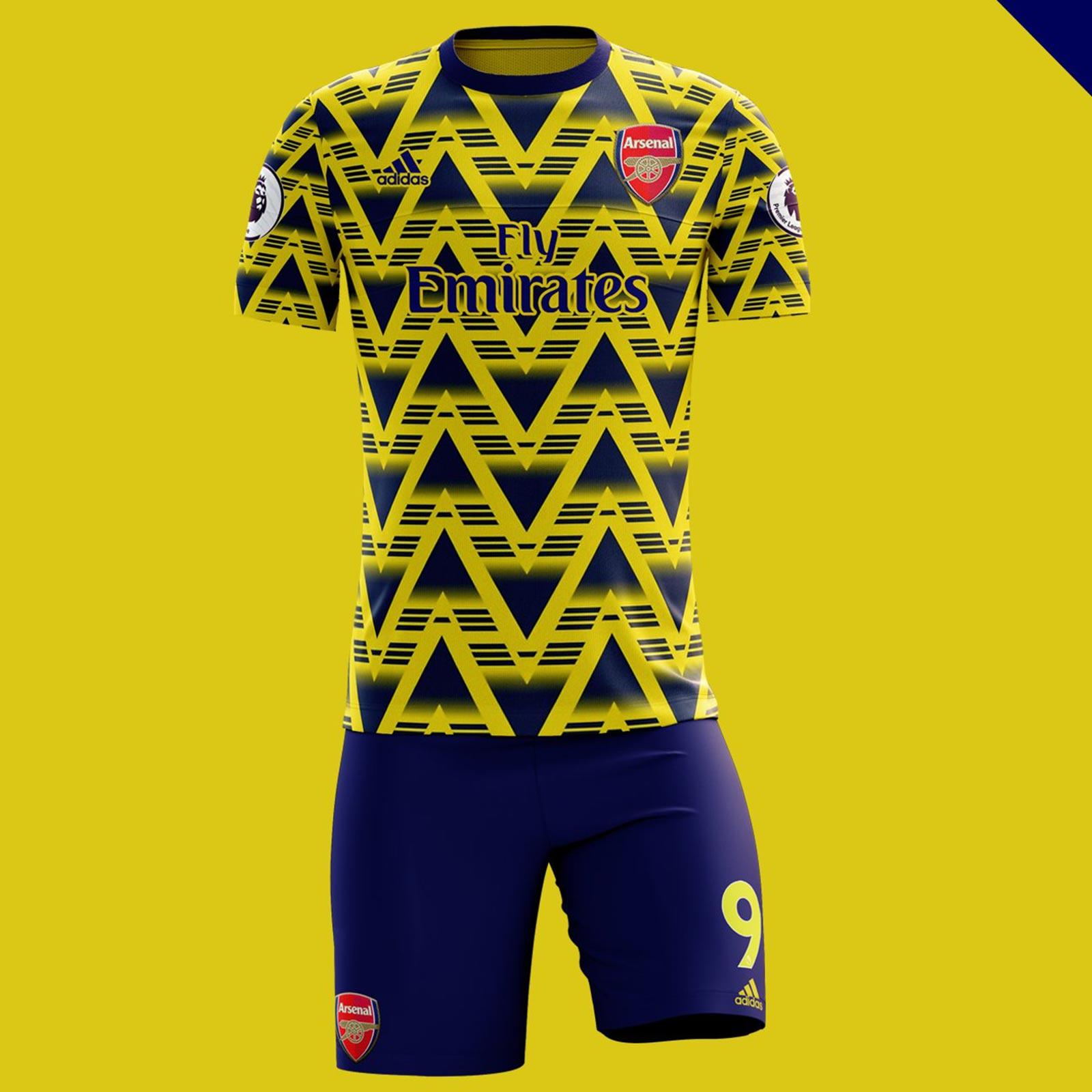 037766df8 Yellow Arsenal Kit – Verein Bild Idee