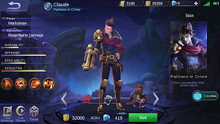 Hero Baru Claude, Story, Skill dan Tanggal Rilis ke Server Global Mobile Legends