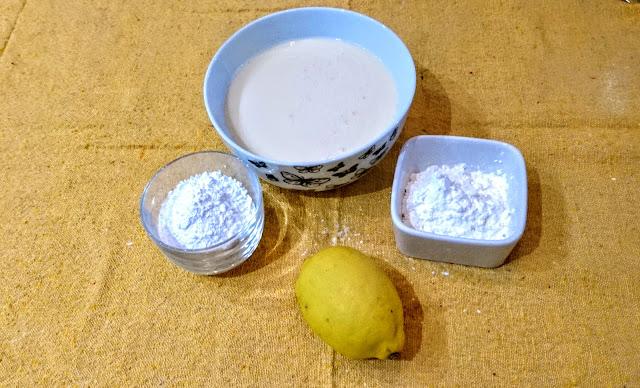 ingredients for vegan lemon custard