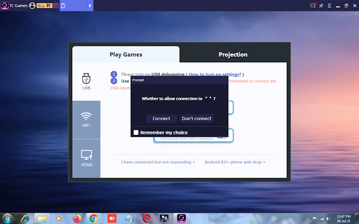 connect android to windows pc via USB