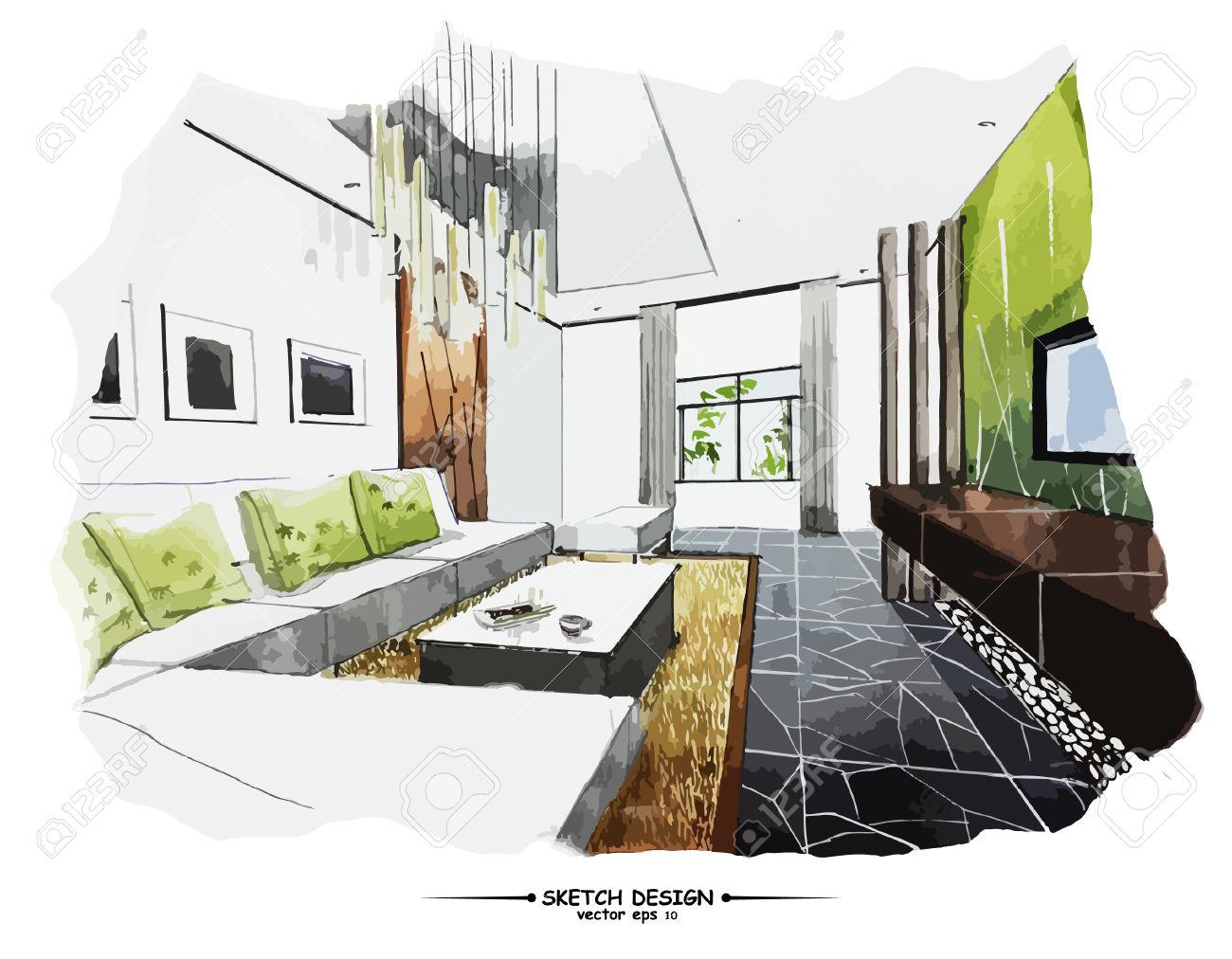 Apuntes revista digital de arquitectura bocetos a mano for Interior 1 arquitectura