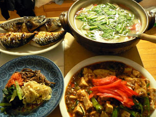 焼きサバ マーボ豆腐 ナムル 鶏汁