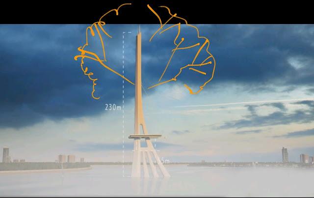 Mô phỏng ý tưởng thiết kế trụ cầu Cần Giờ hình cây đước