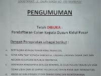 Dibuka Secara Umum, Cermati Syarat dan Tahapan Pengisian Perangkat Desa Rambipuji Sebagai Kepala Dusun Kidul Pasar