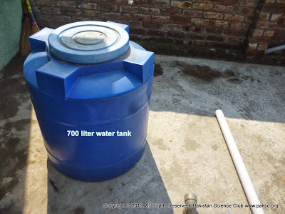 700 liter water tank to be used as Digester Tank