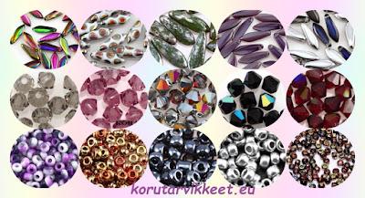 Laihelmet - tikari lasihelmet, kristalli lasihelmet, Miyuki siemenhelmet - helmikauppa netissä