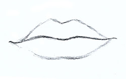 mouth draw drawing easy things drawings shape step lips mouths lip beginners secrets techniques stuff angie line paintingvalley