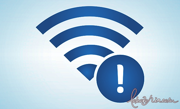 Wi-Fi Exclamation Point