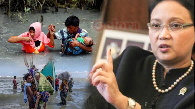 Waduh! Menlu Retno Anggap 1,1 Juta Pengungsi Rohingya Berpeluang Jadi Teroris