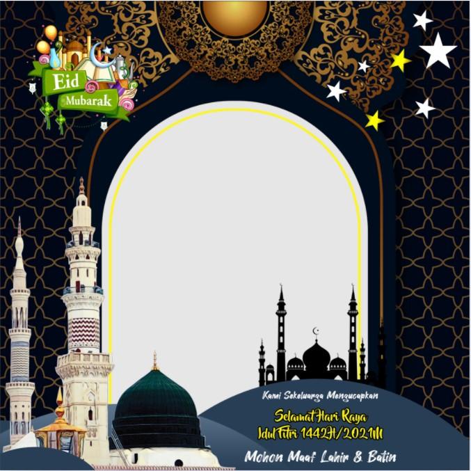 Twibbon Lebaran Idul Fitri 1442 H atau Eid Mubarak 2021 twibbonize